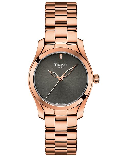 Tissot Women's Swiss T-Wave ll Rose Gold-Tone Stainless Steel Bracelet Watch 30mm