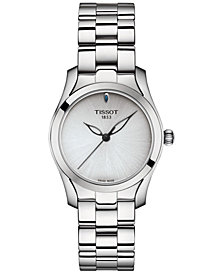 Tissot Women's Swiss T-Wave ll Stainless Steel Bracelet Watch 30mm