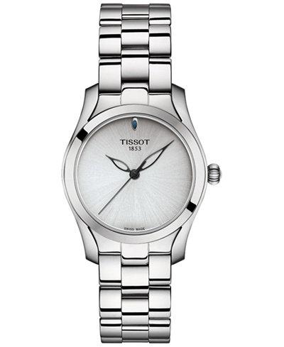 Tissot Women's Swiss T-Wave ll Stainless Steel Bracelet Watch 30mm