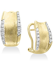 D'oro by EFFY® Diamond Hoop Earrings (3/8 ct. t.w.) in 14k Gold