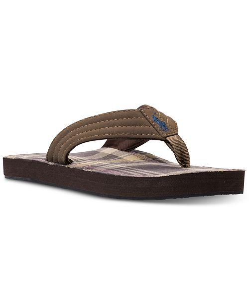 a737eeb81a0 Polo Ralph Lauren Big Boys  Theo Flip-Flop Sandals from Finish Line ...