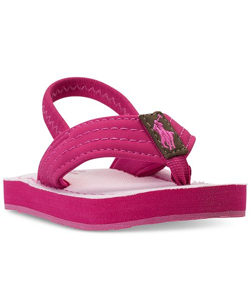 80e0366a1b25 ... Polo Ralph Lauren Toddler Girls  Theo Flip-Flop Sandals from Finish ...