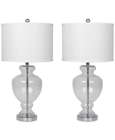 Abbyson Set of 2 Clarissa Glass Table Lamps