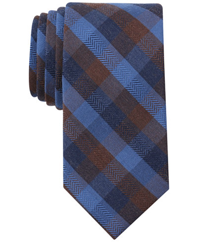Bar Iii Men S Georgia Plaid Skinny Tie Created For Macy