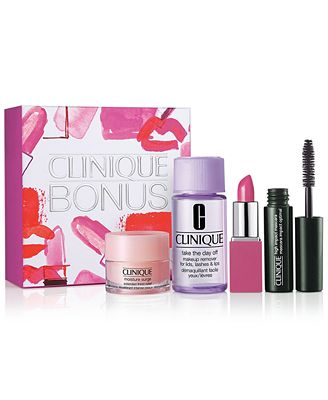 Choose your FREE 4pc Beauty Gift with any Clinique Purchase!