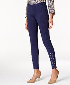 MICHAEL Michael Kors Lace-Up Skinny Pants