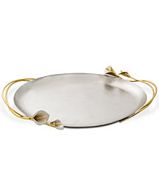 Michael Aram Calla Lily Handled Oval Tray