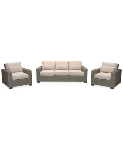Del Mar 3-Pc. Set (1 Sofa & 2 Club Chairs), Created for Macy's