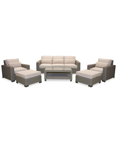 Del Mar 8-Pc. Set (1 Sofa, 2 Club Chairs, 2 Ottoman, 1 Coffee Table & 2 End Tables), Created for Macy's