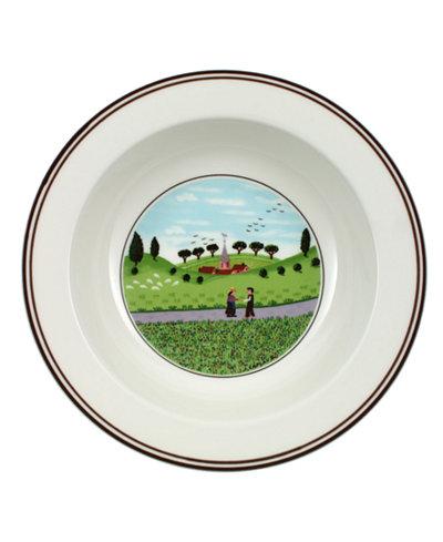Villeroy & Boch Dinnerware, Design Naif Rim Cereal Bowl Friends Meeting