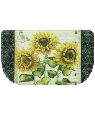 """French Sunflower 18"""" x 30"""" Slice Accent Rug"""