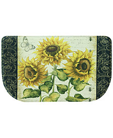"Bacova Berber French Sunflower Friends 18"" x 31.5"" Slice Kitchen Rug"