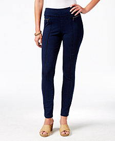 Style & Co Petite Zip-Detail Skinny Pants, Created for Macy's
