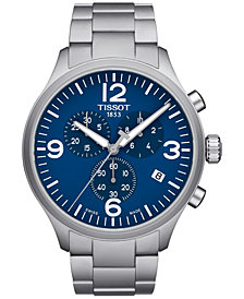 Tissot Men's Swiss Chrono XL Stainless Steel Bracelet Watch 45mm