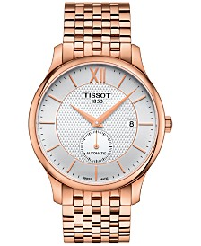 Tissot Men's Swiss Automatic Tradition Rose Gold-Tone Stainless Steel Bracelet Watch 40mm