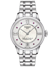 Tissot Women's Swiss Automatic Chemin De Tourelle Stainless Steel Bracelet Watch 32mm