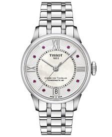 Tissot Women's Swiss Automatic Chemin De Tourelle Stainless Steel Bracelet Watch 32mm