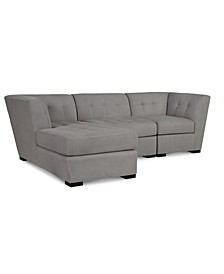 Roxanne II Performance Fabric 3-Pc. Modular Sofa with Chaise, Created for Macy's