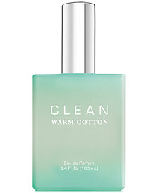 CLEAN Fragrance Warm Cotton Eau de Parfum, 3.4-oz.