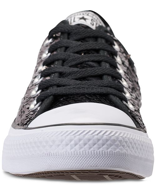 bf894015d216 ... Converse Women s Chuck Taylor Ox Sequin Casual Sneakers from Finish ...