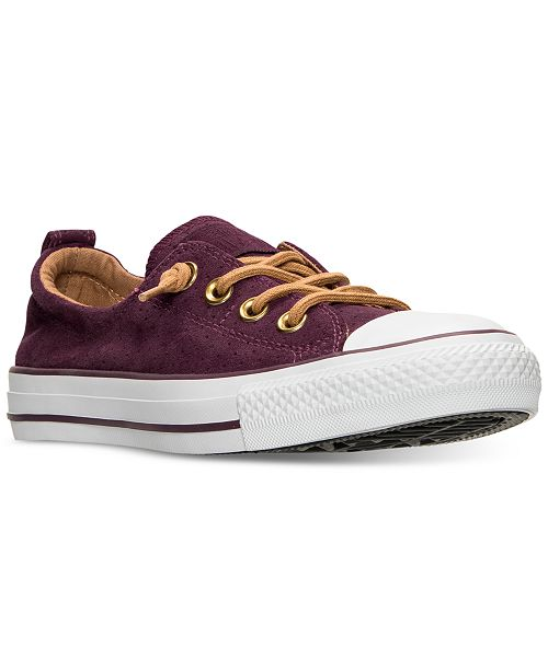 ... Converse Women s Chuck Taylor Shoreline Perf Suede Casual Sneakers from Finish  Line ... d2fb6e97f