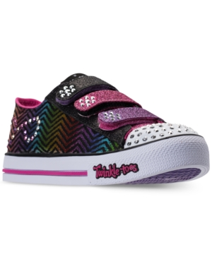 Skechers Little Girls Twinkle Toes Step Up  Sparkle Spice Casual Sneakers from Finish Line