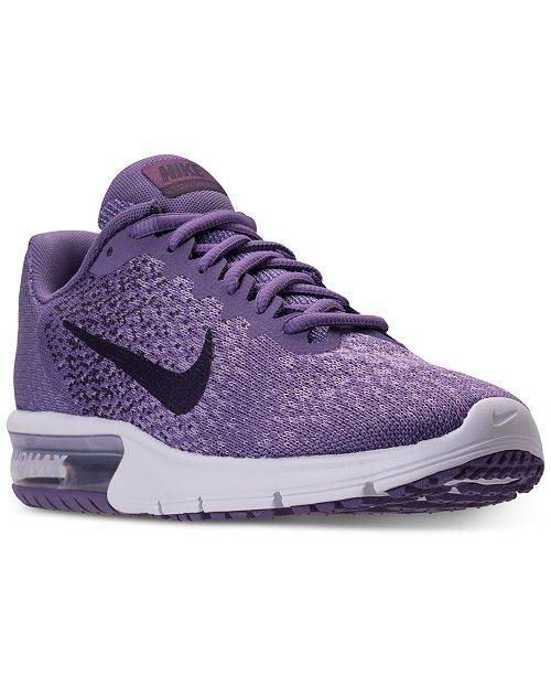 new style 92922 442d7 ... Nike Womens Air Max Sequent 2 Running Sneakers from Finish ...