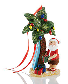 Holiday Lane Santa with Palm Tree Ornament, Created for Macy's