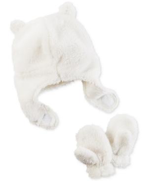 Carters 2Pc Fleece Hat  Mittens Set Baby Boys  Girls (024 months)