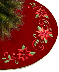 Poinsettia and Holly  Tree Skirt , Created for Macy's
