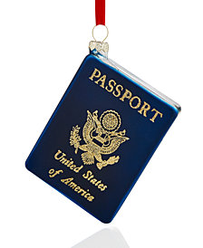 Holiday Lane Glass Passport Ornament, Created for Macy's