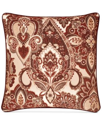 "Rosewood Burgundy 20"" Square Decorative Pillow"