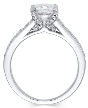 X3 Certified Diamond Engagement Ring in 18k White Gold (2-1/4 ct. t.w.), Created for Macy's