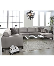 Ventroso Leather Sectional and Sofa Collection, Created for Macy's