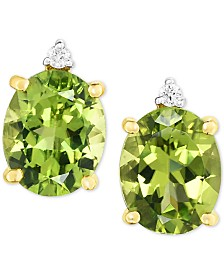 Peridot (5 ct. t.w.) & Diamond Accent Drop Earrings in 14k Gold