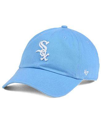 '47 Brand Women's Chicago White Sox Powder Blue/White CLEAN UP Cap