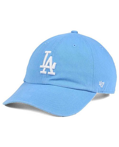 '47 Brand Women's Los Angeles Dodgers Powder Blue/White CLEAN UP Cap