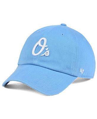 '47 Brand Women's Baltimore Orioles Powder Blue/White CLEAN UP Cap