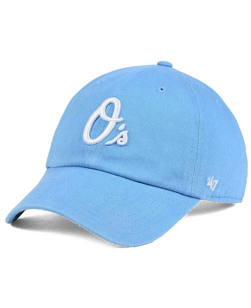 '47 Brand Women's Baltimore Orioles Powder Blue/White CLEAN UP Cap