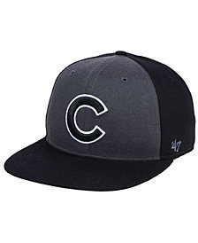 '47 Brand Chicago Cubs Black Sure Shot Accent Snapback Cap