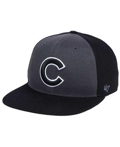 '47 Brand Chicago Cubs Black Sure Shot Accent Snapback Cap