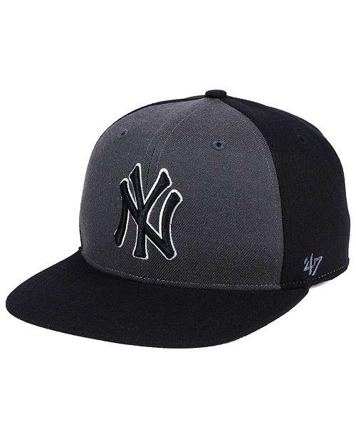 47 Brand New York Yankees Black Sure Shot Accent Snapback Cap    ... e4ae456830b