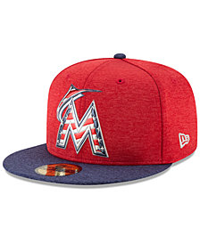 New Era Miami Marlins Authentic Collection Stars & Stripes 59FIFTY Cap