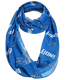 Forever Collectibles Detroit Lions All Over Logo Infinity Wrap Scarf
