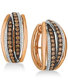 Chocolatier® Diamond Hoop Earrings (1-1/4 ct. t.w.) in 14k Rose Gold & White Gold