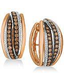 Le Vian Chocolatier® Diamond Hoop Earrings (1-1/4 ct. t.w.) in 14k Rose Gold & White Gold