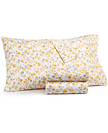 Martha Stewart Collection 3-Pc Printed Twin Sheet Set, 400 Thread Count 100% Cotton Percale, Created for Macy's