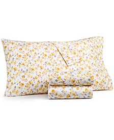 CLOSEOUT! Martha Stewart Collection 4-Pc. Printed King Sheet Set, 400 Thread Count 100% Cotton Percale, Created for Macy's