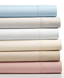 Martha Stewart Collection 4-Pc Solid Sheet Sets, 400 Thread Count 100% Cotton Percale, Created for Macy's