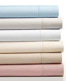 CLOSEOUT! Martha Stewart Collection 4-Pc Solid Sheet Sets, 400 Thread Count 100% Cotton Percale, Created for Macy's